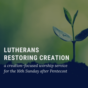 Creation-Focused Worship Service for Sept. 20th